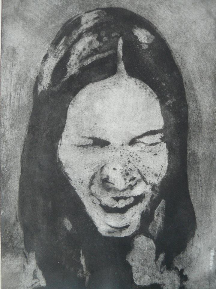 Autoportrét, akvatinta